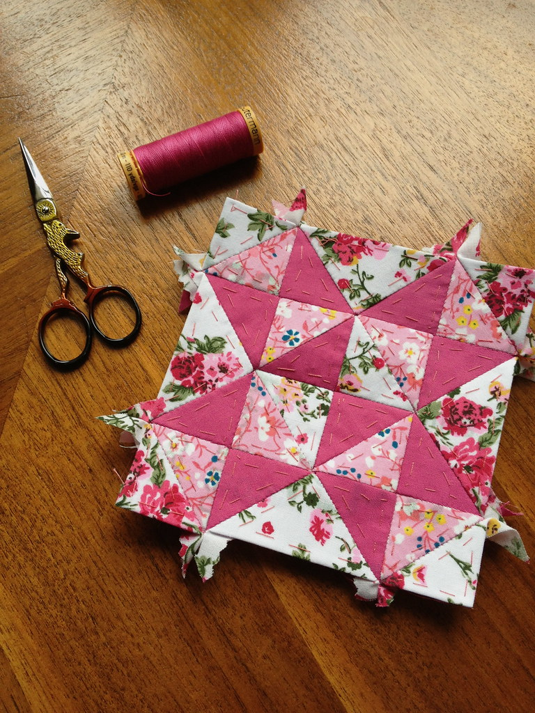 Hand-sewing Bee, Block 1