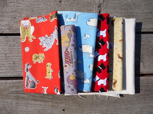 Fabrics for a dog dish mat