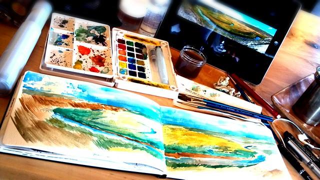 Painting a landscape