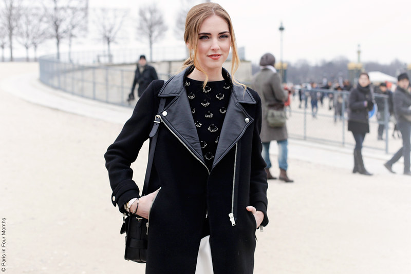 Chiara Ferragni at Paris Fashion Week FW13 by Carin Olsson (Paris in Four Months)