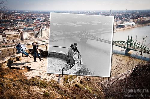 Budapest, Gellért-hegy, Szabadság híd fortepan_12133