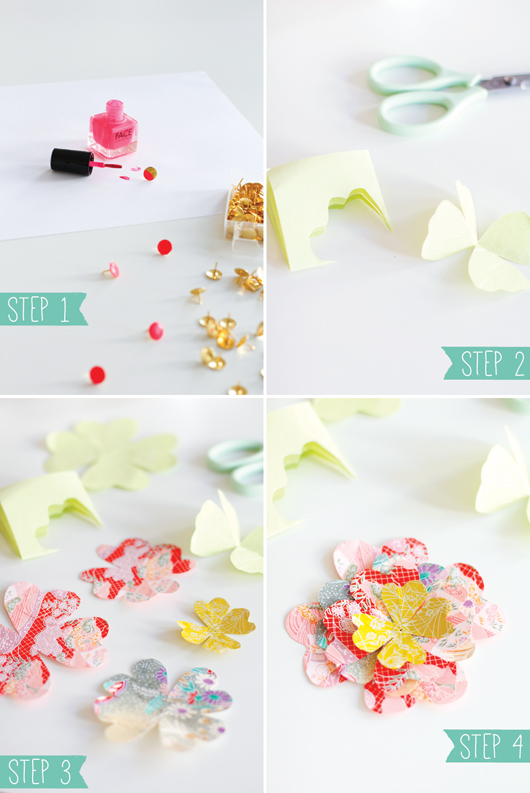 How to make a paper tulip (free template) - Papershape | 793x530