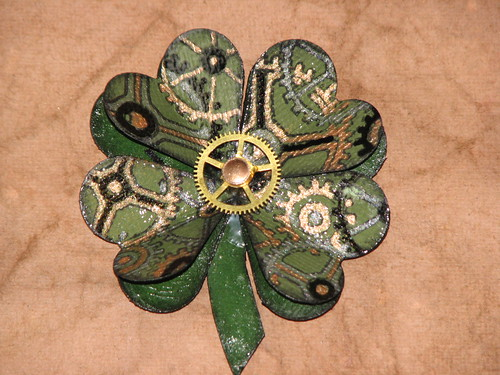 Steampunk Shamrock Pin 010