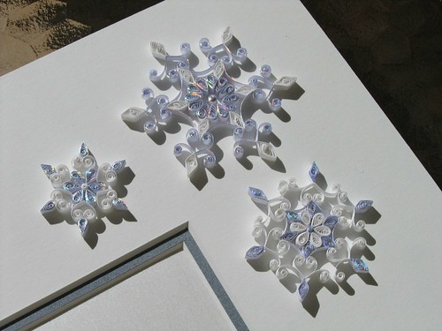 Quilled snowflake wedding invitation by Ann Martin