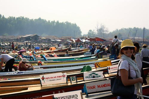 just docked at the floating market. despite all the tour boats pictured, it was mostly full of locals