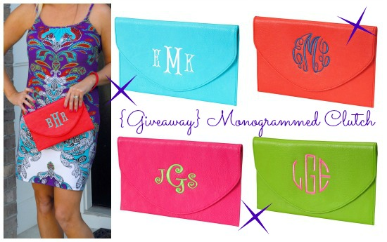 Hi Sugarplum | Monogrammed Clutch Giveaway