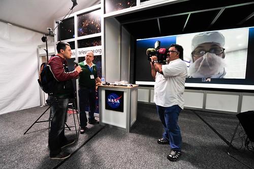 SXSW skyping with NASA Goddard's cleanroom