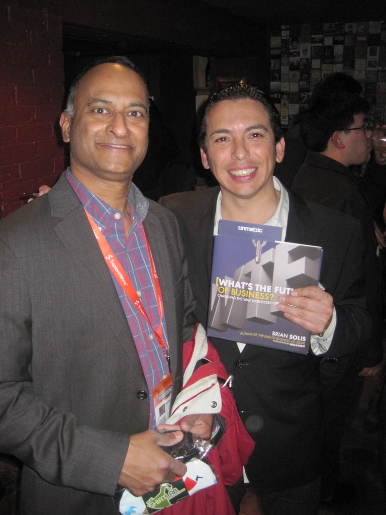 Shashi Bellamkonda (me) With Brian Solis