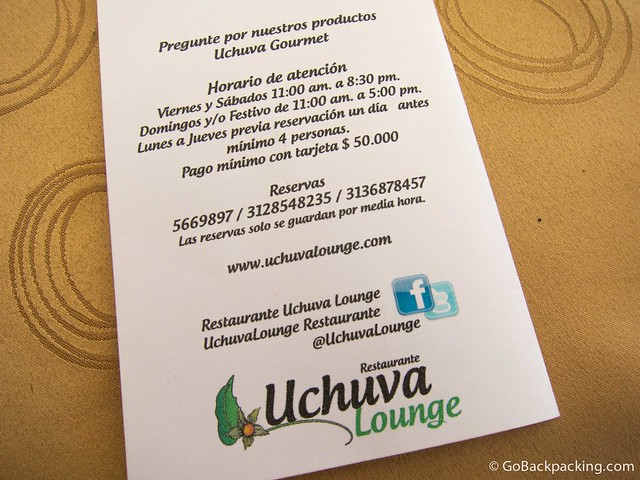 Uchuva Lounge information