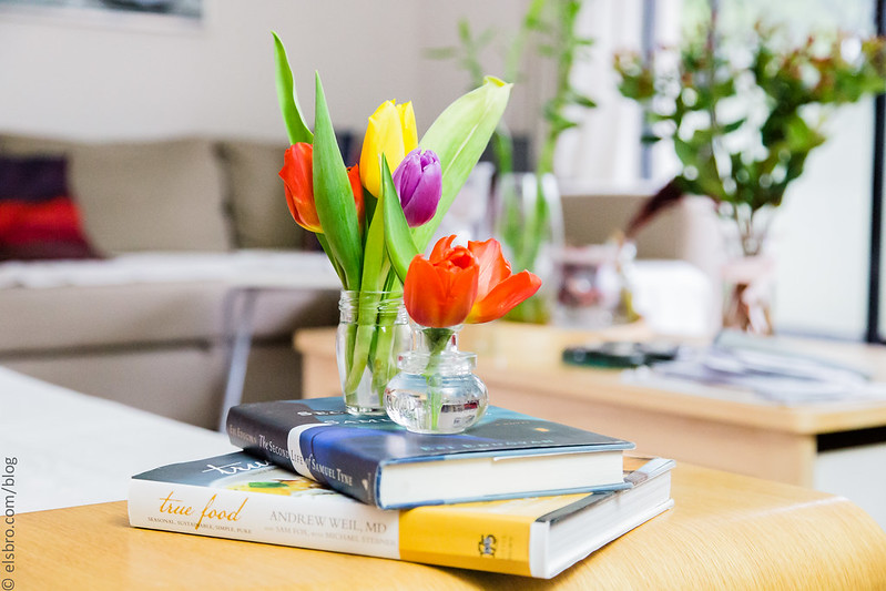 Books and Tulips