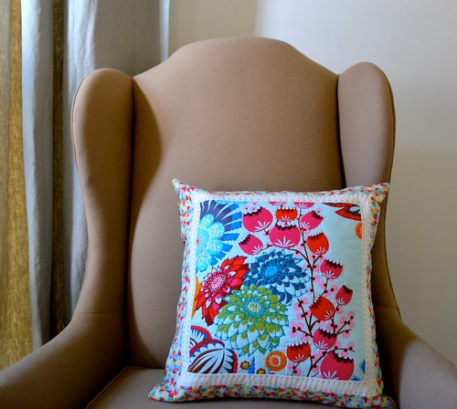 Hand quilted pillow
