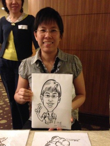 caricature live sketching for South West ComCare Local Network Anniversary Dinner cum ComCare Awards 2013 - u