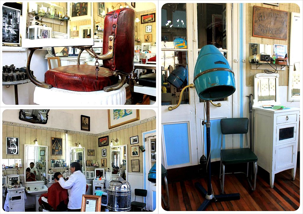 Peluqueria Francesa barber shop Santiago de Chile