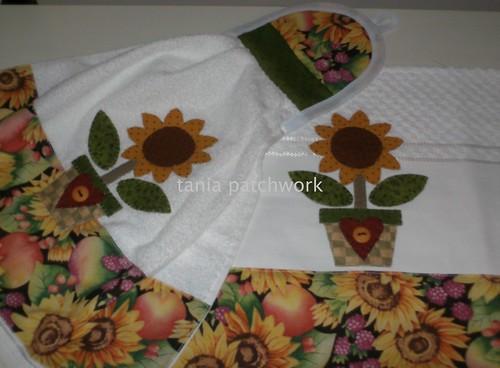 Kit Cozinha Girassol...... by tania patchwork