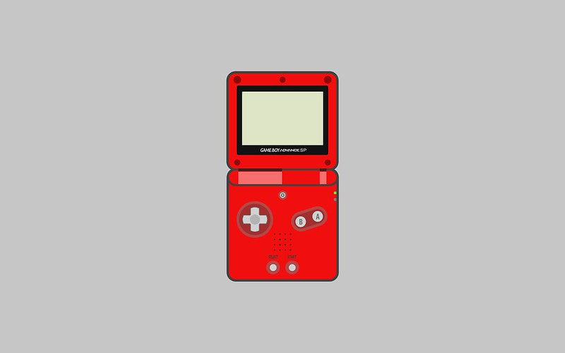 Nintendo Game Boy Advance SP wallpaper - red