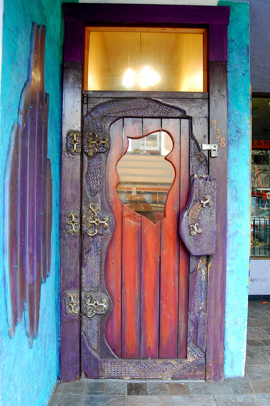 The door to Russell Books in Victoria BC