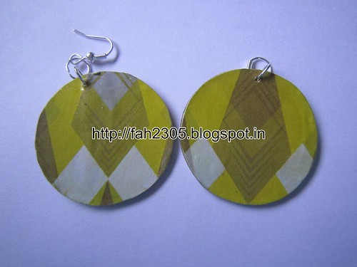 Handmade Jewelry - Card Paper Earrings (10) by fah2305