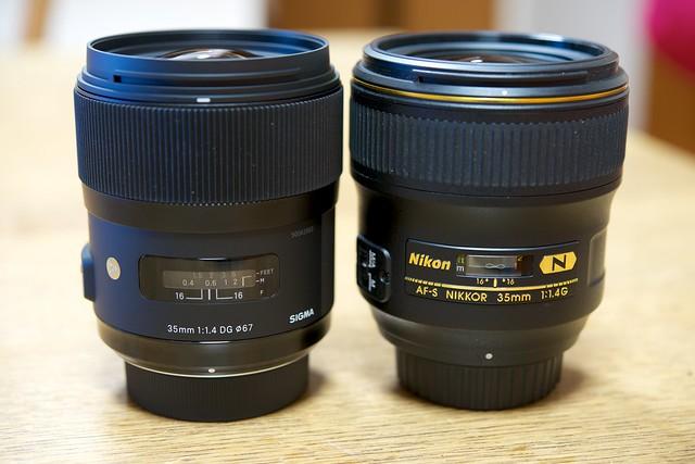 SIGMA 35mm F1.4 DG HSM / AF-S NIKKOR 35mm f/1.4G