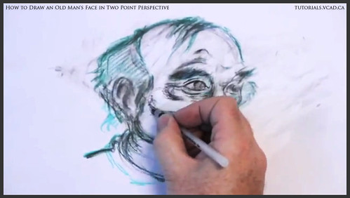 learn how to draw an old man's face in two point perspective 036