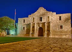 The Alamo at night - San Antonio, TX