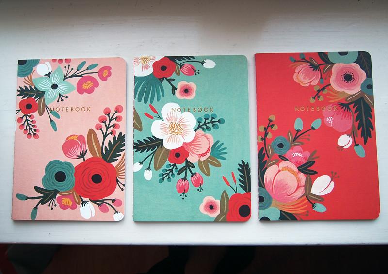 cute floral notebooks