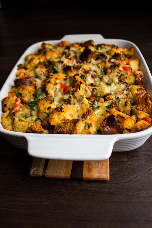 savoury bread pudding or strata?