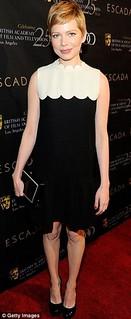 Michelle Williams Monochrome Trend Celebrity Style Women's Fashion