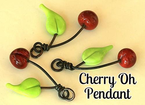 Lampwork Cherry Oh Pendant