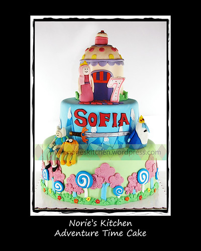 Norie's Kitchen - Adventure Time Cake by Norie's Kitchen