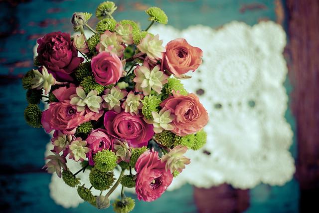 DIY bouquet de fleurs et succulentes