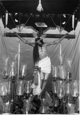 Cristo del Calvario en San Cipriano  © Fondo Rodríguez. Archivo Histórico Provincial. JCCM. Signatura CMC-295-3