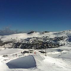 Snow phew! Aire de slopestyle #sierranevada #winterskiride