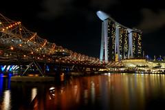 Helix Bridge & Marina Bay Sands