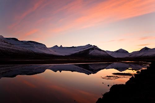 sunset reflection iceland 500views ísland 1000views speglun sólsetur 25faves fáskrúðsfjörður faskrudsfjordur jónínaguðrúnóskarsdóttir