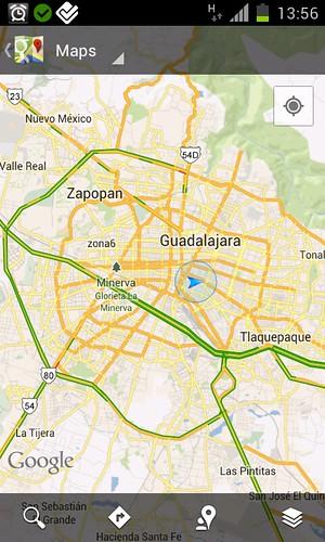Google maps tráfico en Guadalajara. by faroviejo