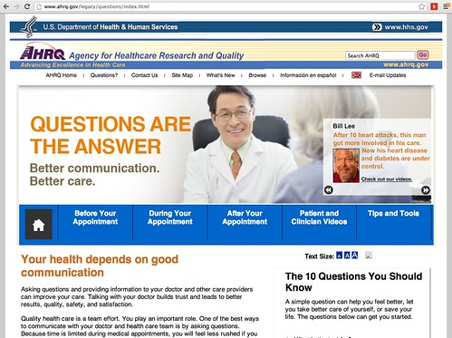 AHRQ: Questions are the Answer