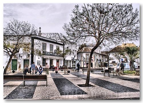 Praça em Faro by VRfoto