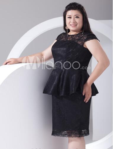 Robe de cocktail noir grande taille