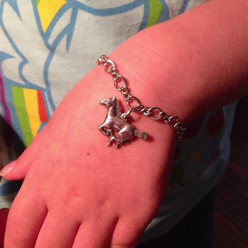 105:365 Megan's first James Avery charm bracelet.