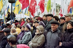 Opposition rally at the Shevchenko park