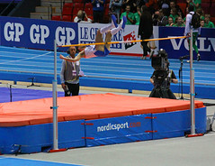 boxing ring(0.0), pole vault(0.0), trampolining(0.0), physical exercise(0.0), athletics(1.0), track and field athletics(1.0), sports(1.0), high jump(1.0),