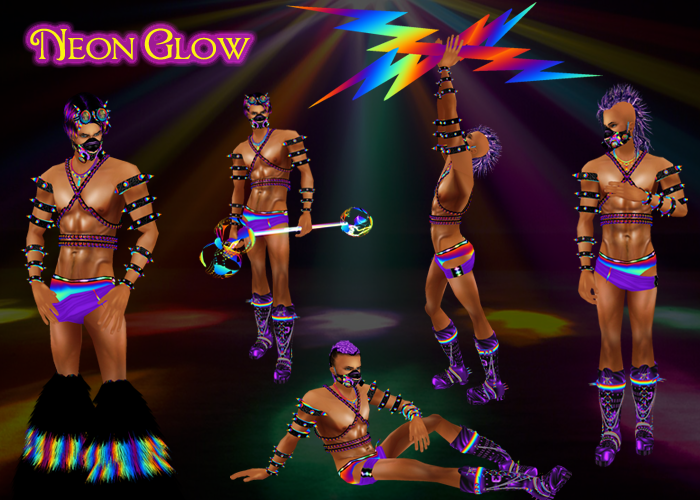 Neon Glow Male Banner