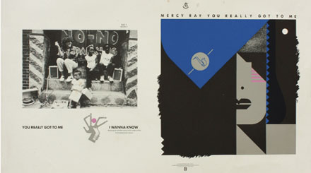 Proof, Barney Bubbles design for single sleeve, Mercy Ray You Really Got To Me, 1983.