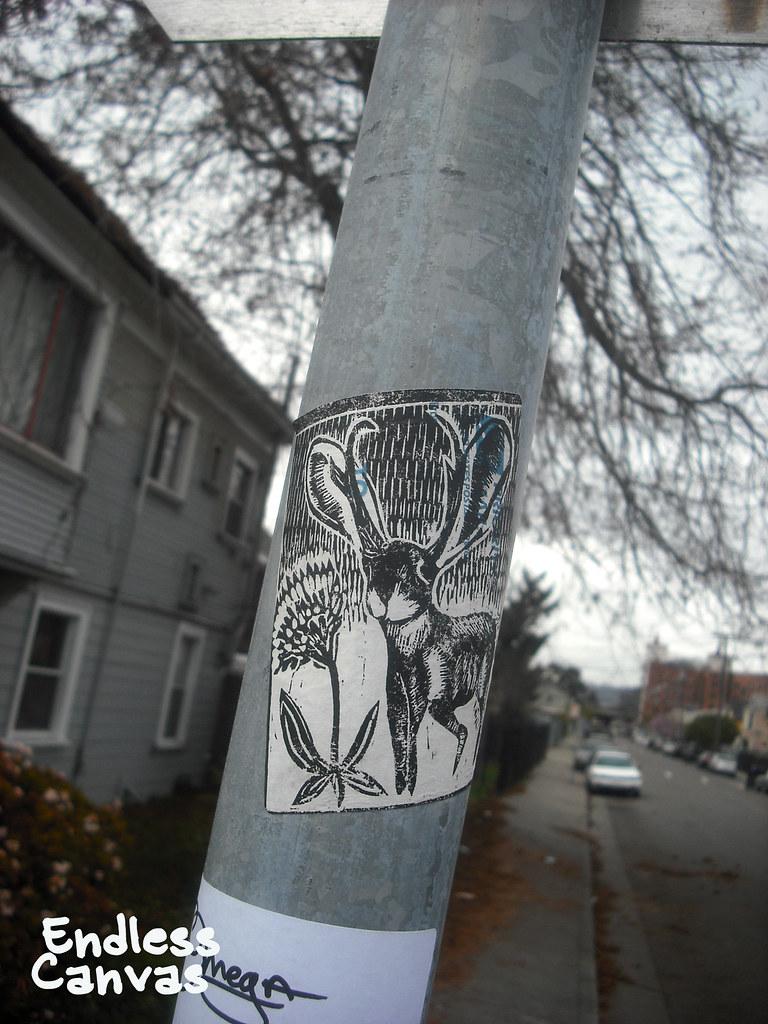 JACKALOPE stencil - Oakland, CA