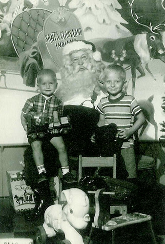 Dave and Joe with Santa Jim