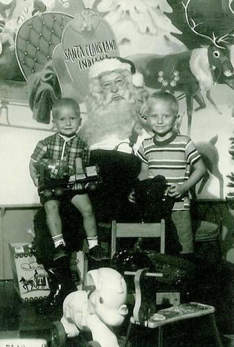 Dave and Joe with Santa Jim