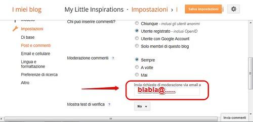 Modifica commenti su blogger, come bloccare i commenti anonimi