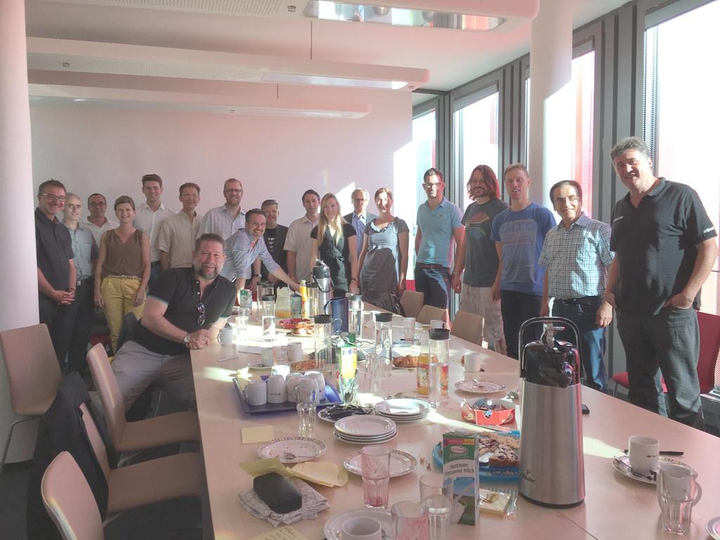 Die Teilnehmer/innen des 150. Lean Coffee Cologne