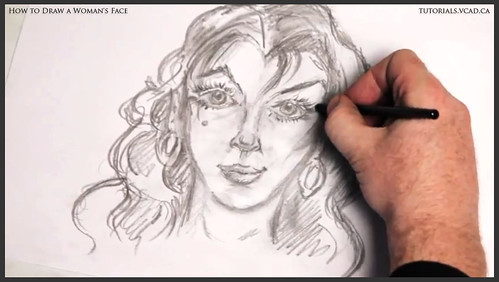 learn how to draw a womans face 025