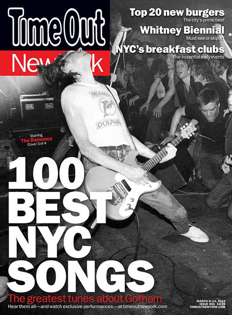 "Time Out New York Magazine (March 2012) ""100 Best NYC Songs"""